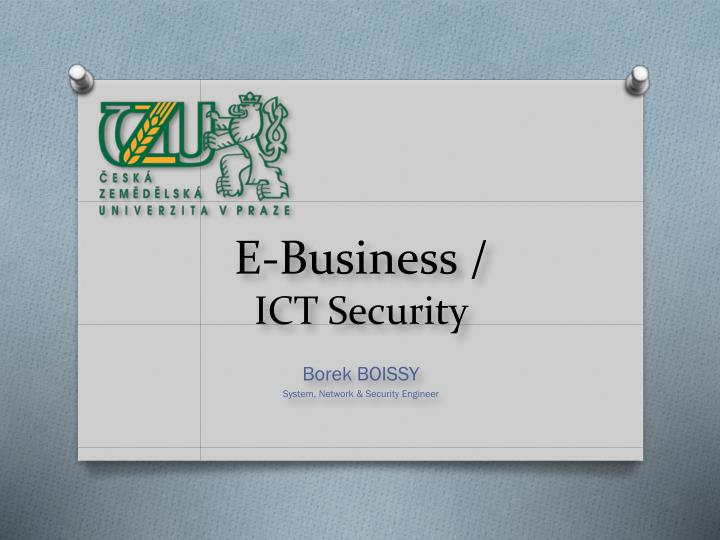 E business ict security