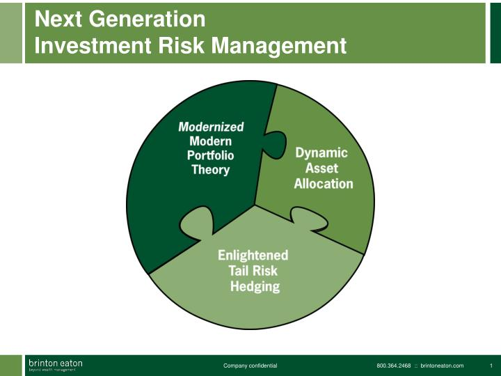 Next generation investment risk management1