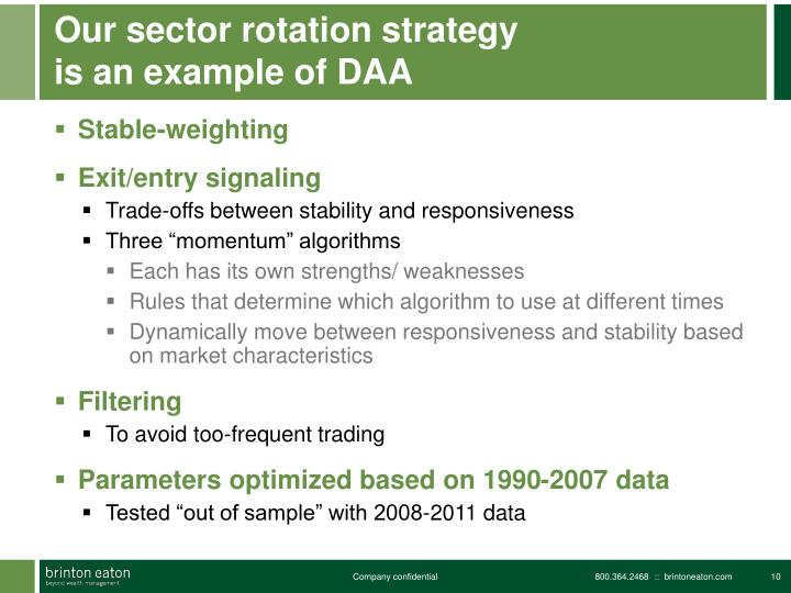 Our sector rotation strategy