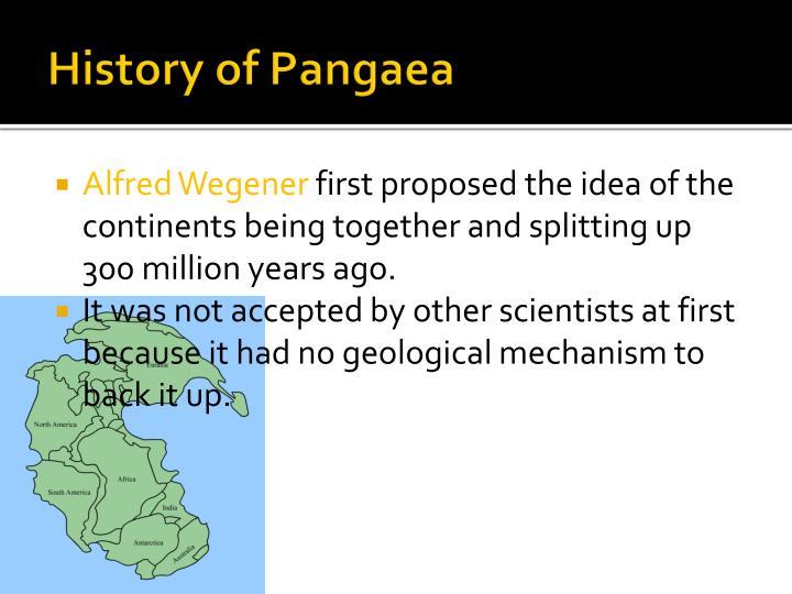 History of Pangaea