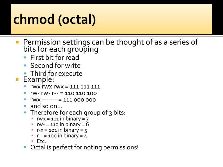 chmod (octal)