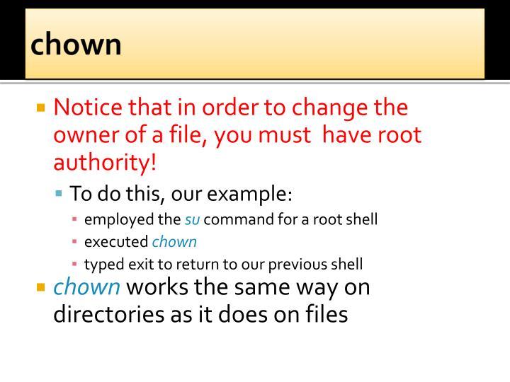 chown