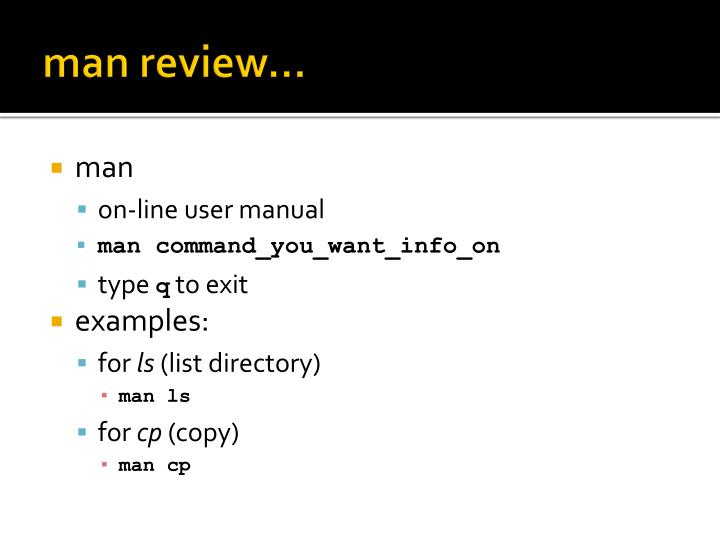 man review…