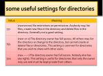 some useful settings for directories