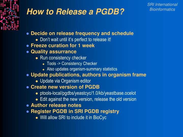 How to Release a PGDB?
