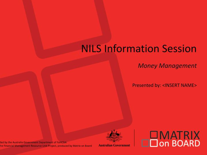 NILS Information Session