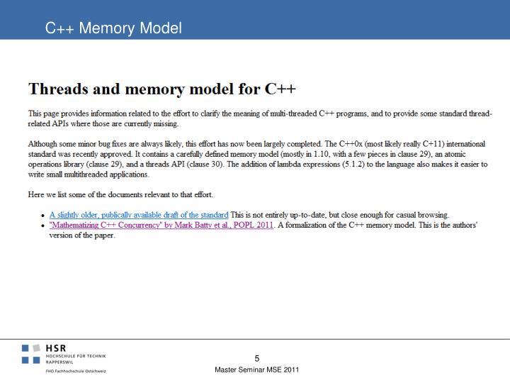 C++ Memory Model