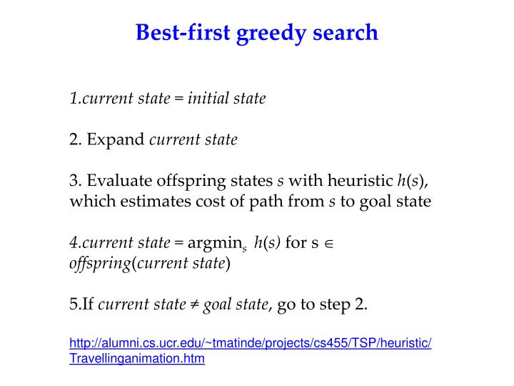Best-first greedy search