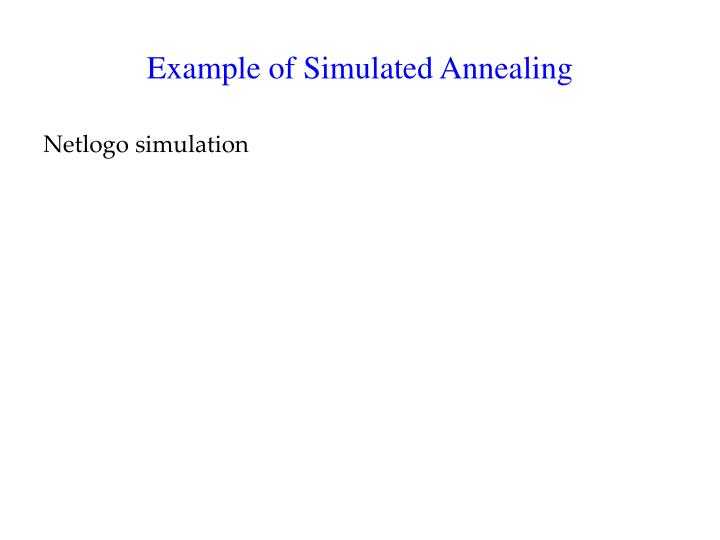 Example of Simulated Annealing