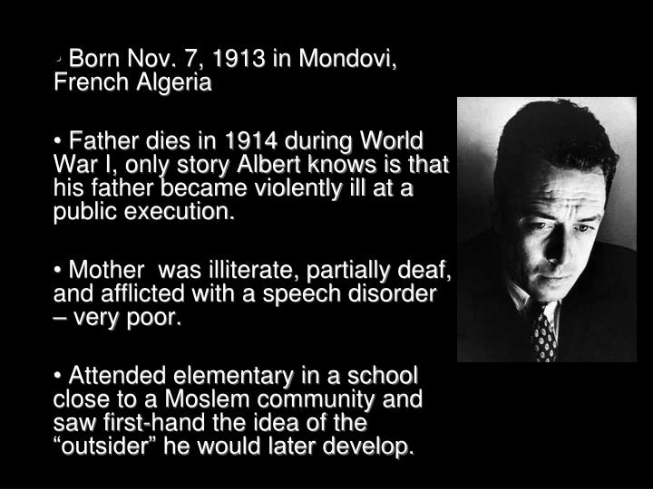 Born Nov. 7, 1913 in Mondovi, French Algeria