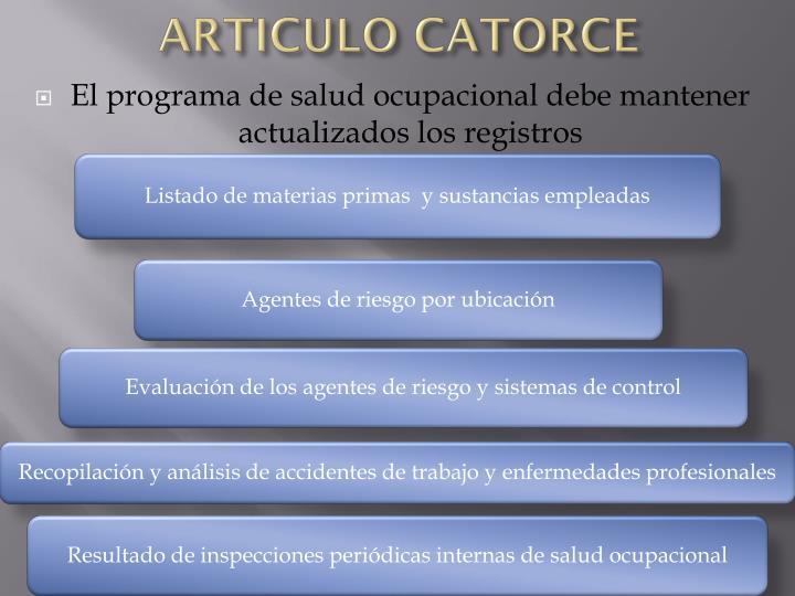 ARTICULO CATORCE