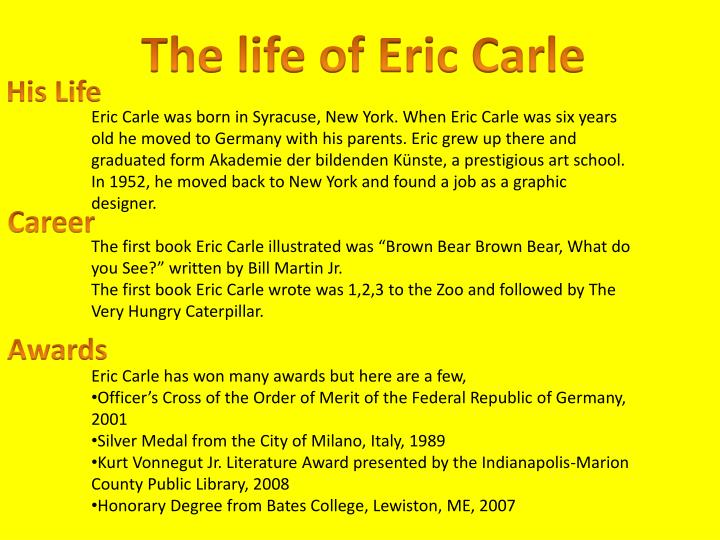 The life of Eric Carle