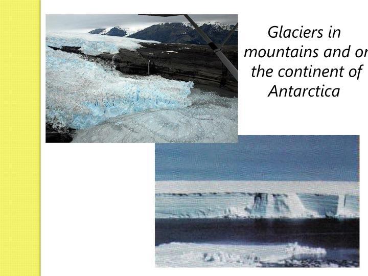 Glaciers in