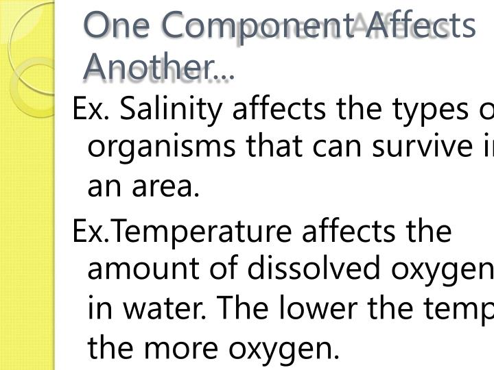 One Component Affects