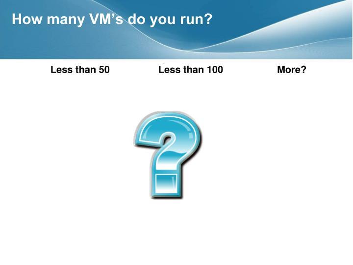 How many VM's do you run?