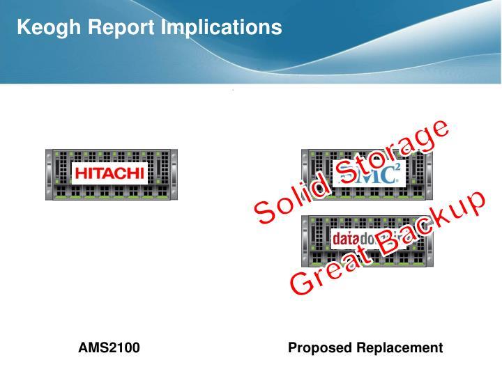 Keogh Report Implications