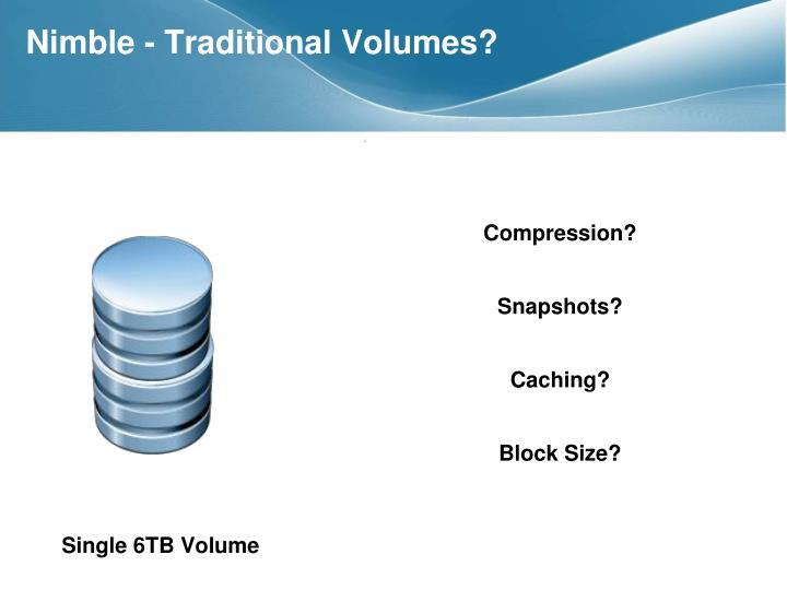Nimble - Traditional Volumes?