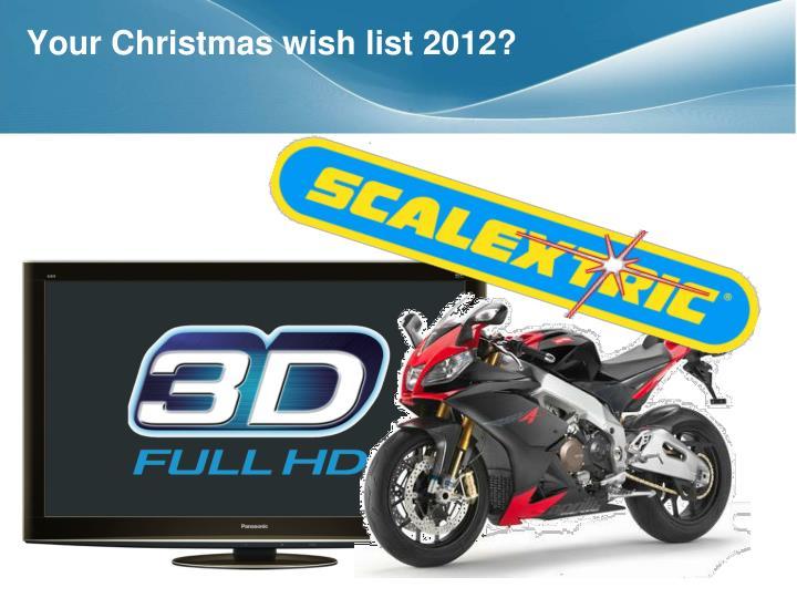 Your Christmas wish list 2012?