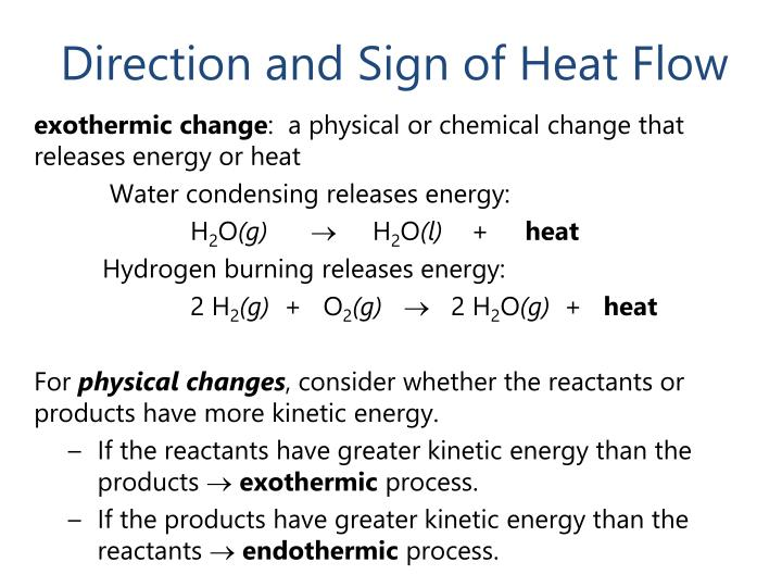 Direction and Sign of Heat Flow