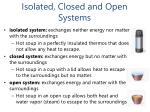 isolated closed and open systems