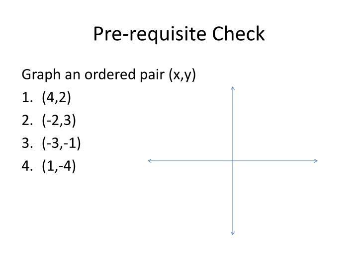 Pre-requisite Check
