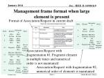 management frame format when large element is present