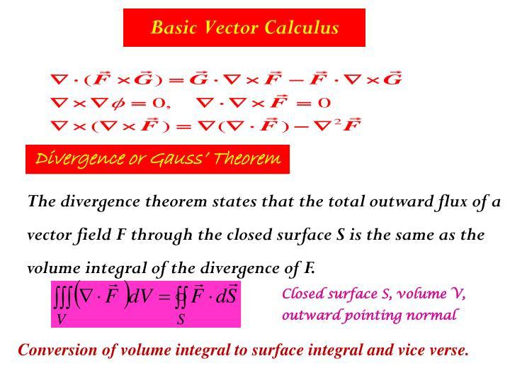 Basic Vector Calculus