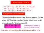 basic vector calculus