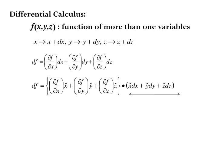 Differential Calculus: