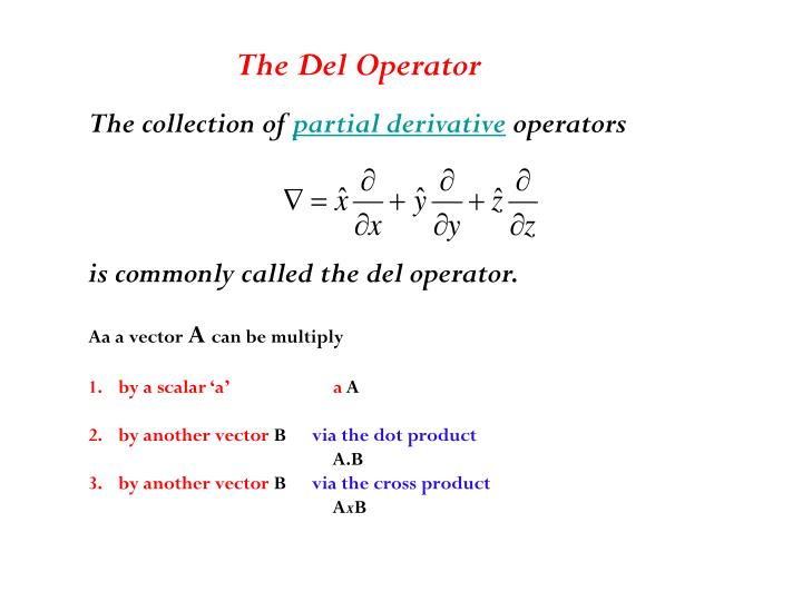 The Del Operator