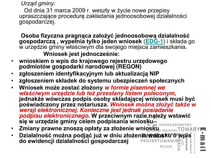 Urząd gminy: