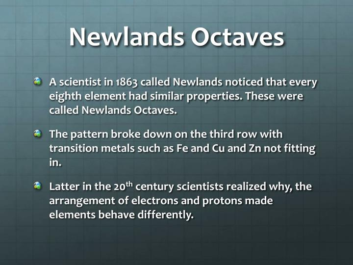 Newlands Octaves