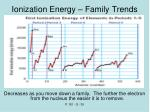 ionization energy family trends