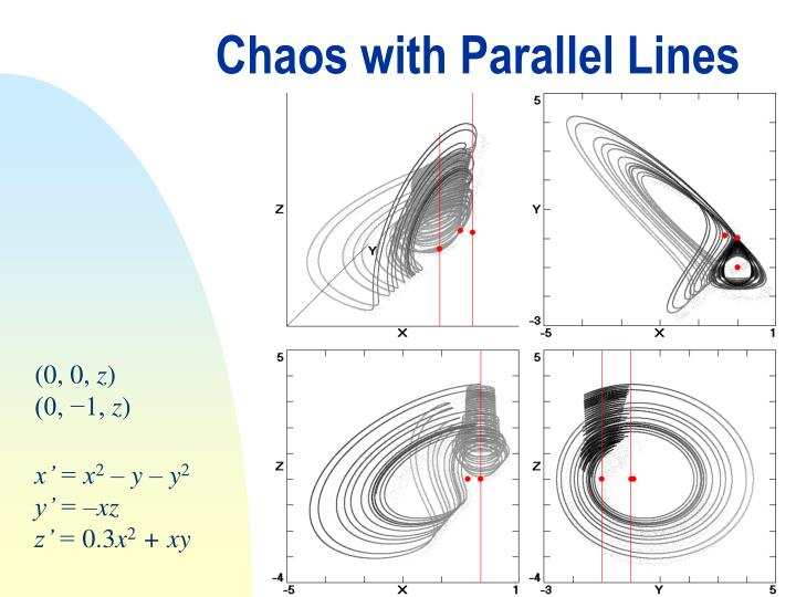 Chaos with Parallel Lines