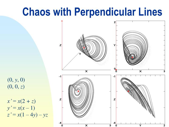 Chaos with Perpendicular Lines