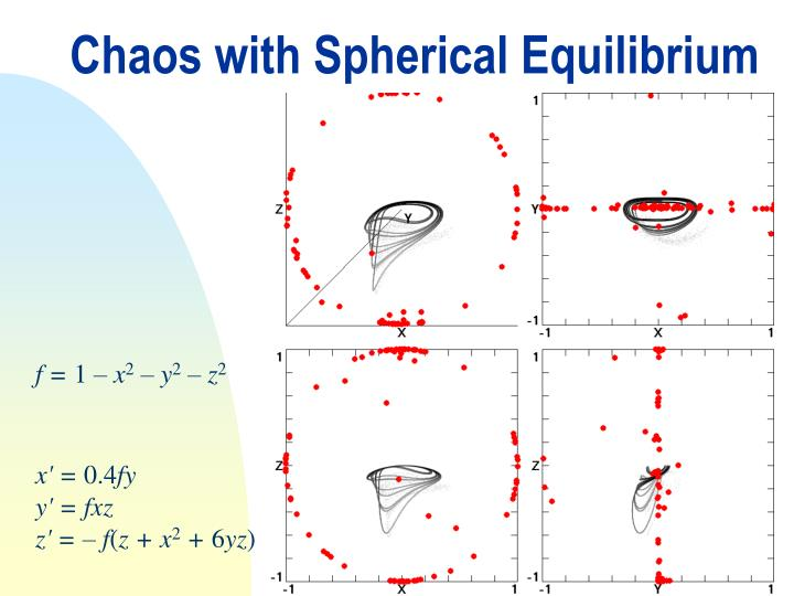 Chaos with Spherical Equilibrium