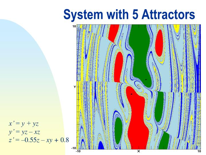 System with 5 Attractors