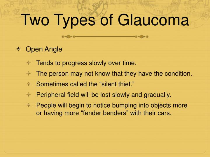 Two Types of Glaucoma