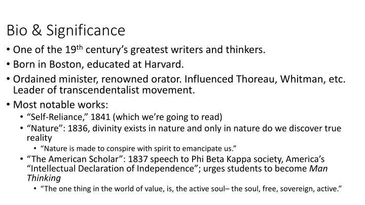 Bio & Significance