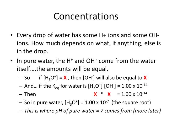 Concentrations