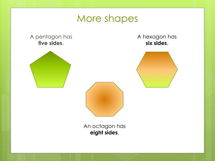 More shapes
