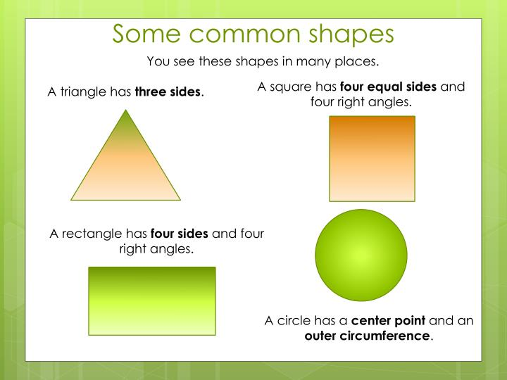 You see these shapes in many places.