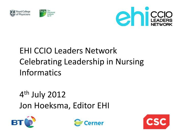 EHI CCIO Leaders Network