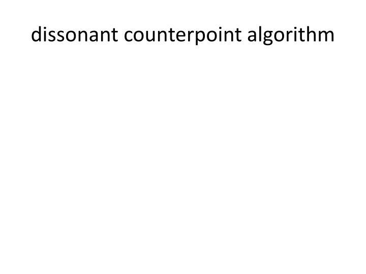 dissonant counterpoint algorithm