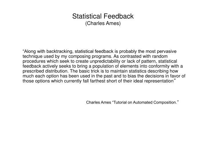 Statistical Feedback