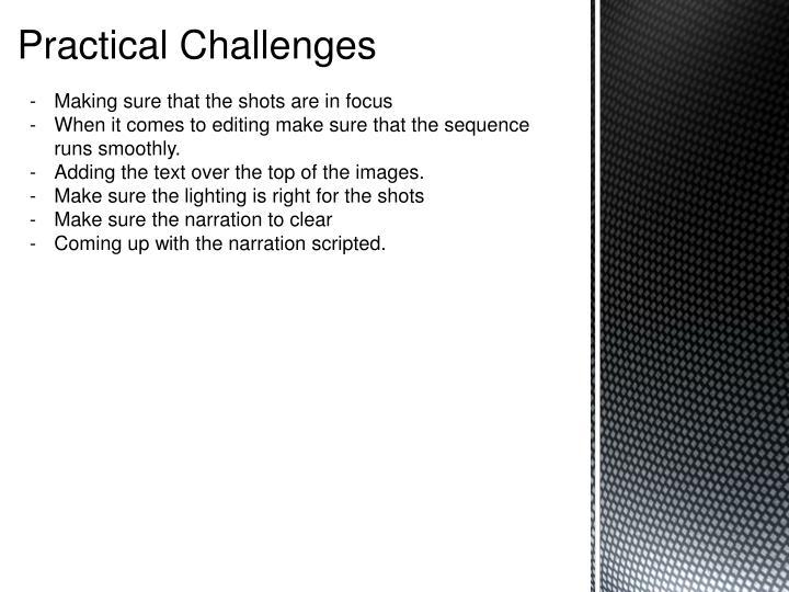 Practical Challenges