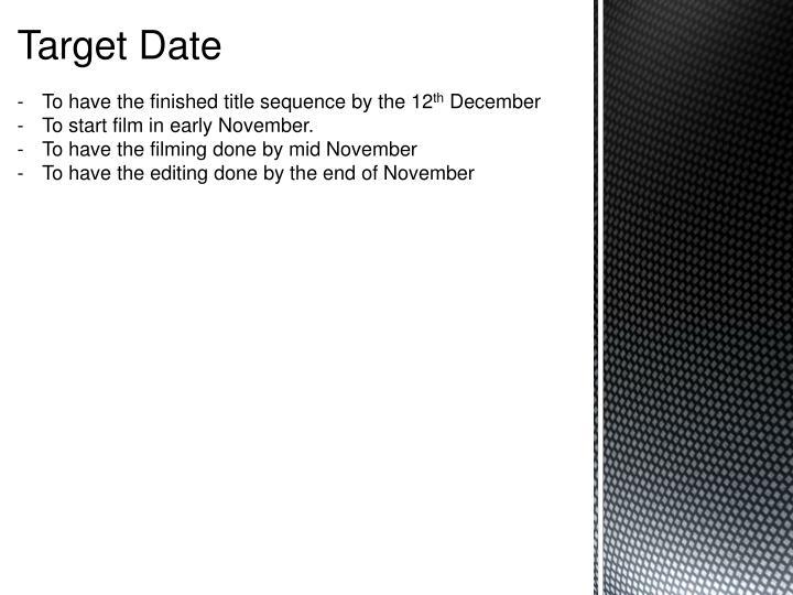 Target Date