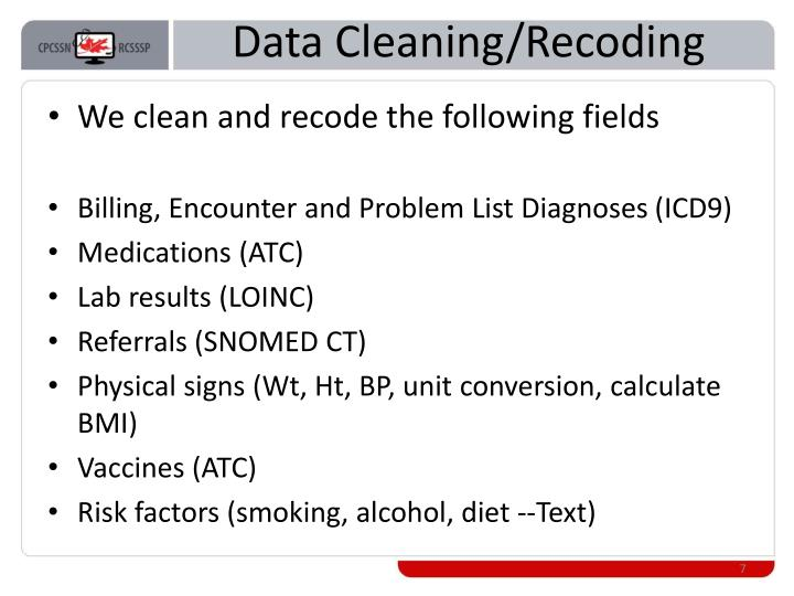 Data Cleaning/Recoding