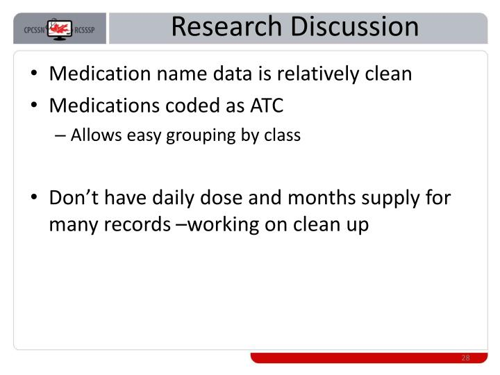 Research Discussion