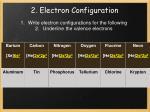 2 electron configuration11